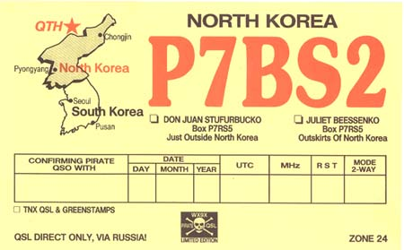 Not North Korea P7bs2 Gag Qsl Card