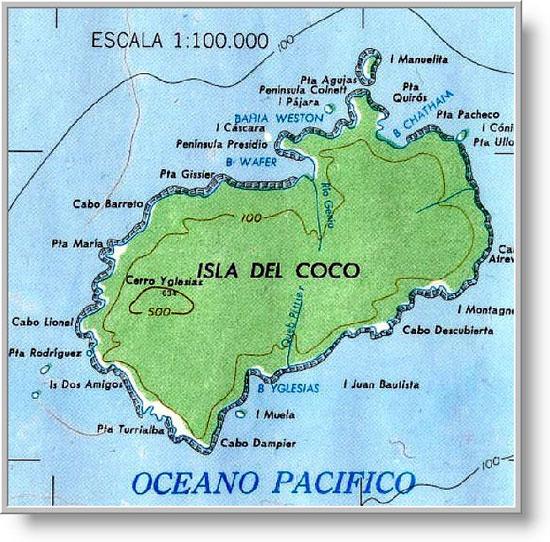 Cocos Island TICF - Cocos islands map