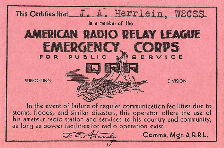 Antique QSL Card - Rockville Centre, Long Island, NY - W2CSS